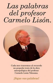 Las palabras del profesor Carmelo Lisón